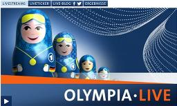 Screenshot »Olympia live«, Quelle: ARD.de