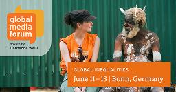 Motto der Medienkonferenz »Global Inequalities«, Quelle: DW